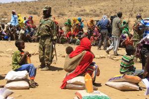 mathjälp på läger i somaliland