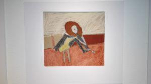 Ett barn har målat av ett av Helene Schjerfbecks verk.