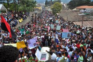 Berta Cáceres begravning 5.3.2016