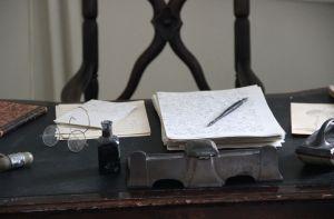 Överläkarens skrivbord 1870.