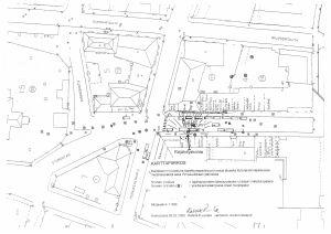 Karta över explosionsplatsen.