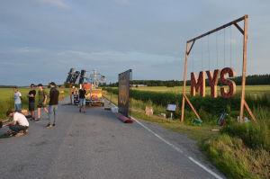 Rejpeltvägen i Vörå är avstängd för inspelningarna.