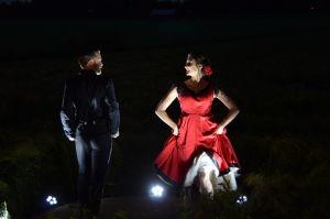 Dansparet Andreas Leetma och Sofie Lybäck under inspelningarna.