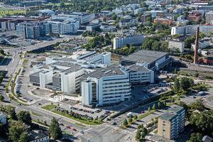 Ilmakuva Turun yliopistollisen sairaalan kantasairaalasta
