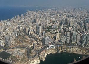 ilmakuva Beirutista