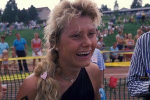 Triathlonisti Ghita Jarlström vuonna 1988.