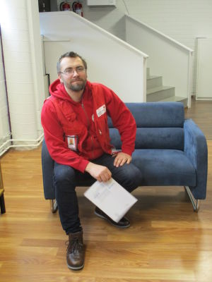 Arto Mansikkavuori, chef för flyktingförläggningen i Hangö