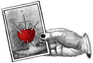 mansikka, miekat, ennustaminen, tarot-kortit