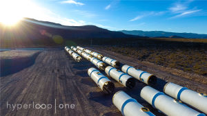 Hyperloop-test i Nevada.