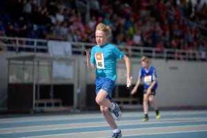 En löpare på stafettkarnevalen 2017