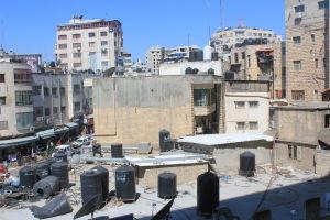 Den palestinska staden Ramallah.