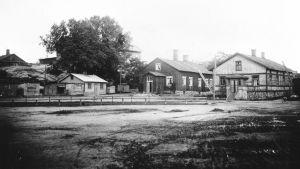 Gammalt foto på Dalsbruks torg 1917.