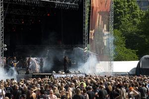 Testament-yhtye esiintymässä Tuska-festivaaleilla Kaisaniemessä vuonna 2010.