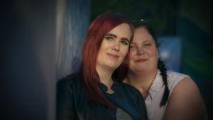 Emma och Maria på Rockoff