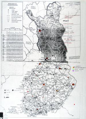 Suomen kartta johon intiaanit merkinneet paikkakuntia