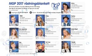 MGP 2017 röstningsblankett att printa ut