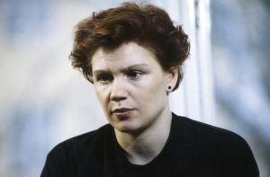 Näyttelijä Mari Rantasila televisiosarja Pakanamaan kartan kuvauksissa.