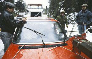 Ääniryhmä työssä televisiosarja Pakanamaan kartan kuvauksissa Suomessa vuonna 1990.