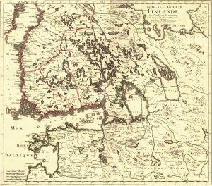 Karta över krigsskådeplatser under Lilla ofreden.