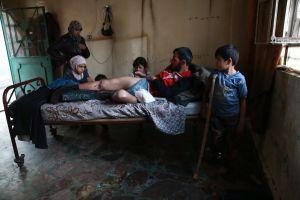 En familj i Ghouta.
