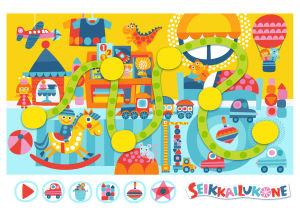 Seikkailukoneen lastenhuonekartta