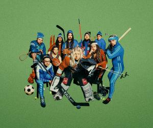 Saimaa-yhtyeen jäsenet urheiluvarusteet päällään