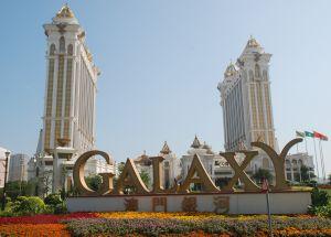 Fasaden till casinot Galaxy i Hongkong.