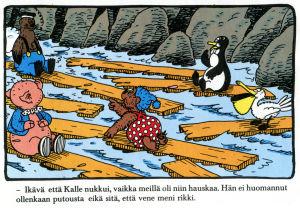 Rasmus Nalle veden varassa