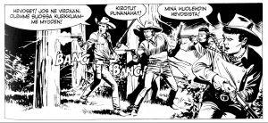 Tex ja kumppanit ampuvat intianeja