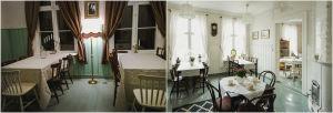Ennen ja jälkeen -kuva remontoidusta tilasta