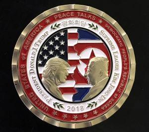 Specialmynt till ära av mötet mellan Donald Trump och Kim Jong-un (som i skrivande stund inte blir av).