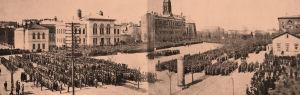 Viipurin paraati 1. toukokuuta 1918.