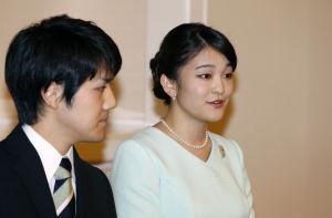 Prinsessan Mako av Akishino med sin förlovade.
