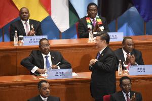 Xi Jinping på öppningen av Kina-Afrika toppmötet 2018.