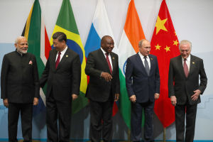 BRICS möte juli 2018.