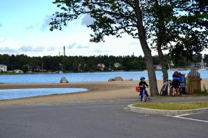 Sandö simstrand i Vasa.