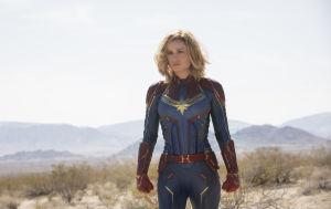 Captain Marvel -elokuvan pääroolin esittäjä Brie Larsson.
