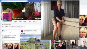 Kuvakaappaukset Svetlana Kotirannan julkisesta Facebook-profiilista.