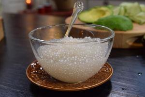 En skål med tapiokapärlor
