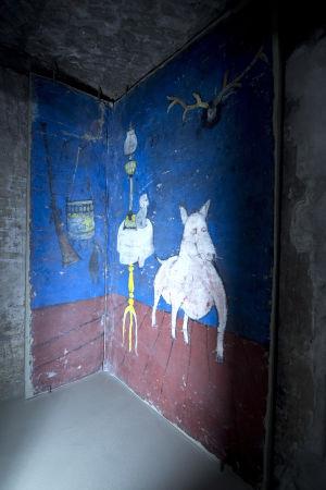 Berliinin taideakatemian seinämaalaus.
