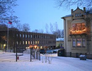 Rysslands konsulat i Åbo vintertid.