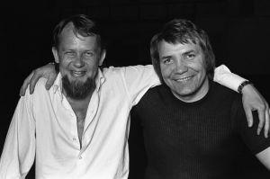 Ohjaaja Kalle Holmberg ja Eino Grön vuonna 1973.