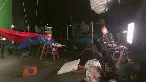 Darude Superman-musiikkivideon kuvauksissa