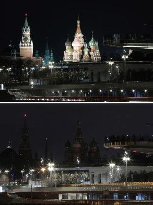 Earth Hour i Moskva 30.3.2019