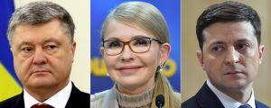Petro Porosjenko, Julija Tymosjenko och Vladimir Zelenskij