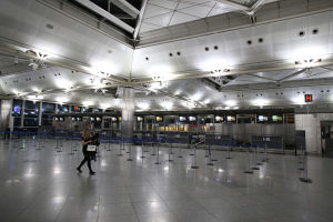Den tomma flygplatsen Atatürk.
