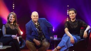 Andrea Eklund, Johan Lindroos och Eva Frantz