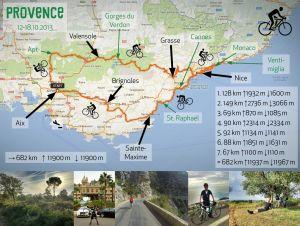 Kaj Arnö cyklar Provence runt.