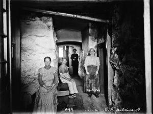 Sauna Marie-Badin henkilökuntaa 1913