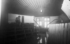Miesten osaston sauna Löyly Oy:n saunassa 1970